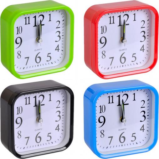 Настольные часы - будильник Х2-17/806 с закругленными углами 9,5*9,5*4см
