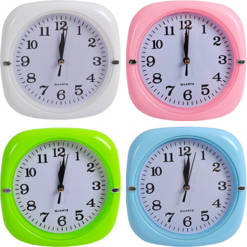 """Настенные часы Х2-29 """"Квадрат цветной"""" 17*17*3,5см"""