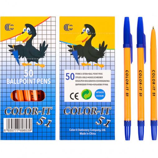 Ручка шариковая CORVINA  CR51 синяя