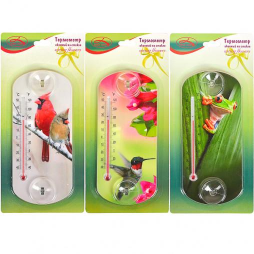 Термометр оконный CH 3028-1 на присосках 20*9см X2-124