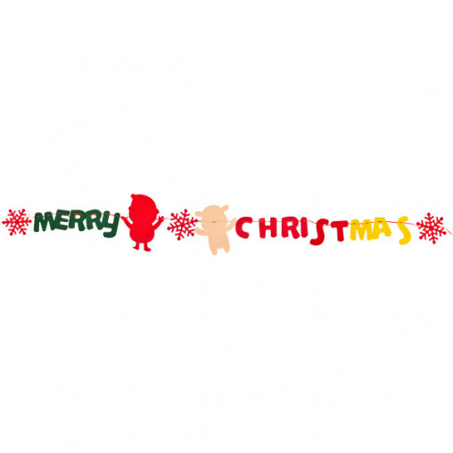 Поделка из фетра Растяжка Дед мороз 4м