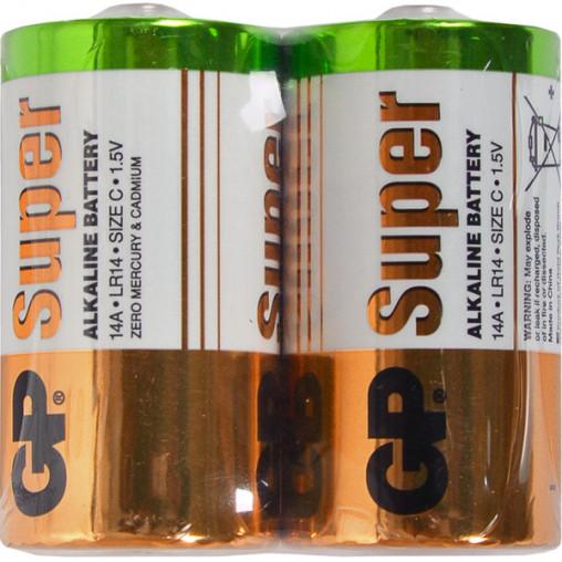 Батарейка GP 14A-S2 щелочная LR14, C Alkaline Super GP-006463