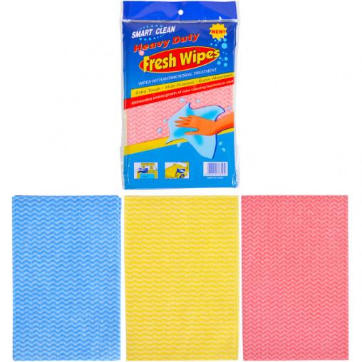 Тряпка Fresh Wipes 3 цвета по 3шт, полиэстер (29*19см) 8034