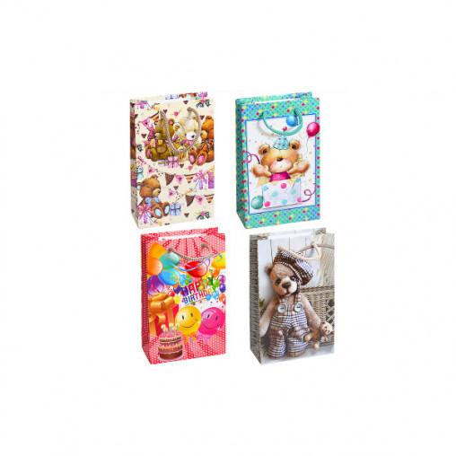 "Пакет цветной малый ""Медвежонок"" 11х18х5 см 1011"