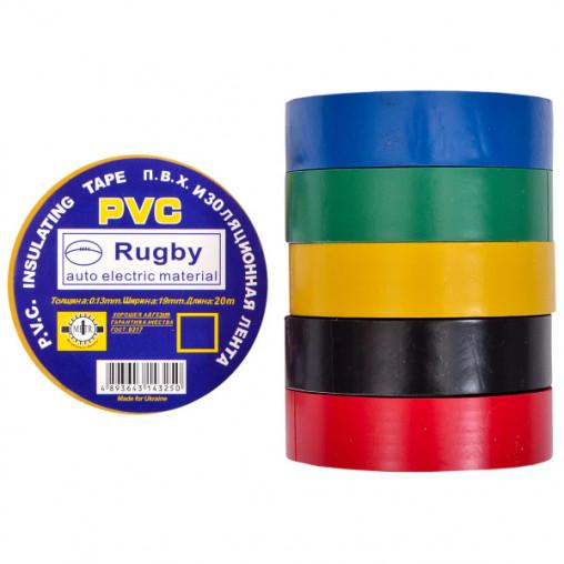"Изолента PVC 20 ""Rugby"" ассорти Х4-15/20-2"