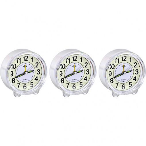 """Настольные часы - будильник 903 """"Круг"""" с подсветкой 8,5*4см"""