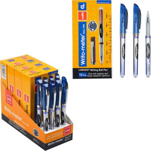 """Ручка масляная """"10км"""" CL8048/ET200 синяя"""
