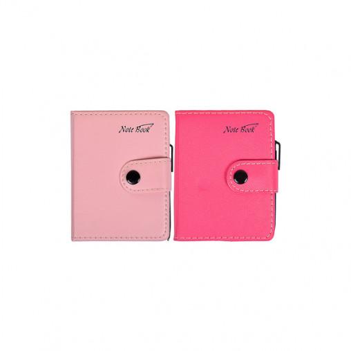 Блокнот 11*8см с ручкой в обложке кож/зам, клетка 63100