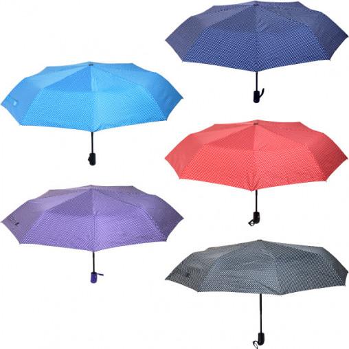 Зонтик складной автомат в горошек Х2115