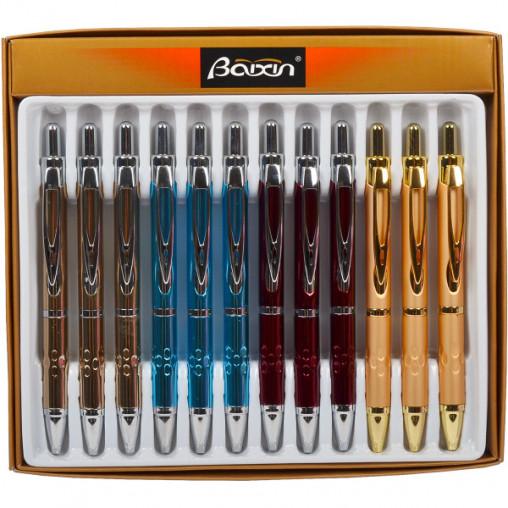 """Ручка подарочная """"BAIXIN"""" 2003 шариковая синяя"""