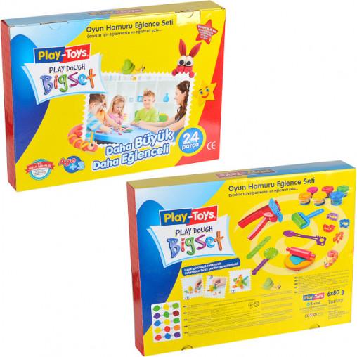 "Набор игровое тесто Bigset 6х80гр с игрушками ""Play-Toys"" 10239/42188/1640"