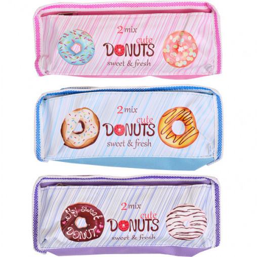 "Пенал-косметичка ""Donuts"" 19*8*4см 9641"