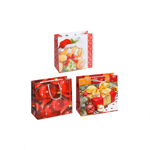 "Пакет цветной чашка ""Новый год"" 16х16х7 см 2015"