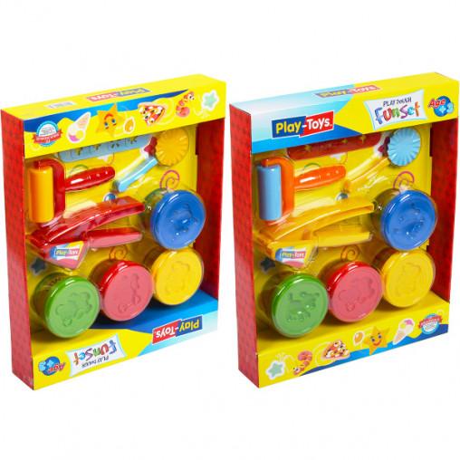 """Игровое тесто """"Play-Toys"""" 4х80г. в коробке 6785"""