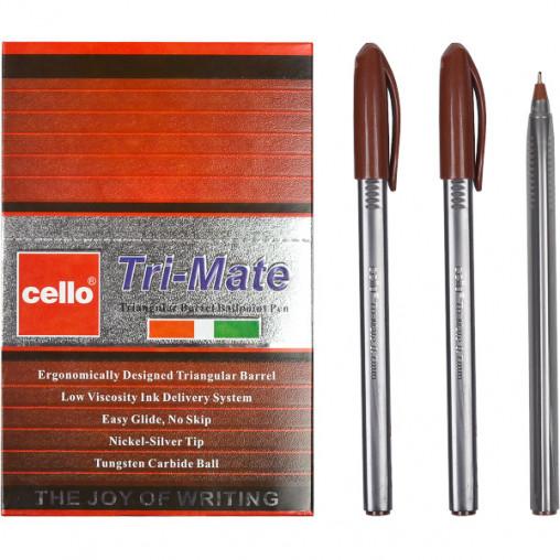 "Ручка масляная ""Tri-Mate"" Cello CL-1779В коричневая"