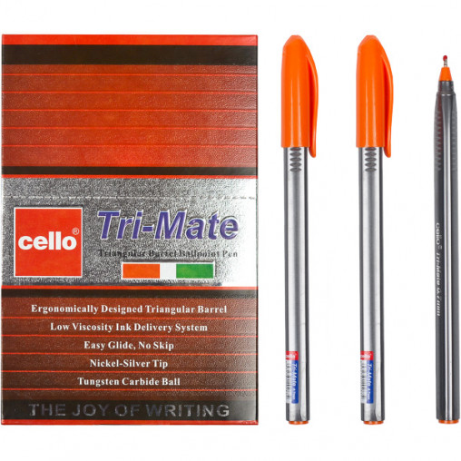 """Ручка масляная """"Tri-Mate"""" Cello CL-1779В оранжевая"""