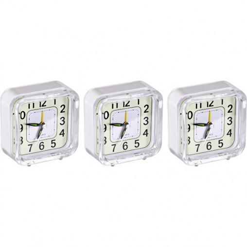 """Настольные часы - будильник 901 """"Квадрат"""" с подсветкой 8,5*8,5*4см"""