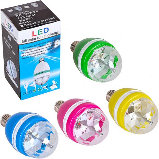 """Вращающаяся лампа LED 13-77 """"Бриллиант"""" цветной"""