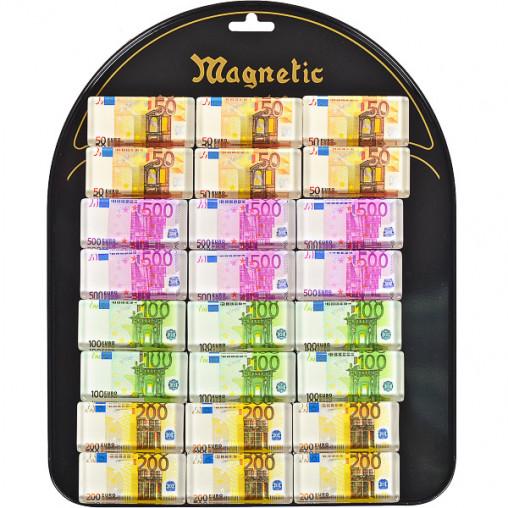"""Магнит """"Евро """" прямоугольный 24 шт на планшете 9002"""