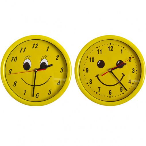 """Настенные часы Х2-36/8881 """"Смайл круг"""" 22*4см"""