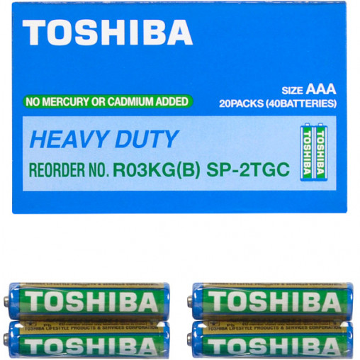 Батарейка Toshiba R03G SP2TGTE 593444/152594