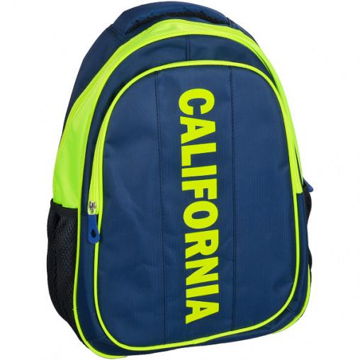 """Рюкзак California M """"Синий с салатовым"""" 42*29*13см 980514"""
