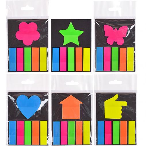 """Закладка неон 5 цветов """"stick Notes"""" Р19-1"""
