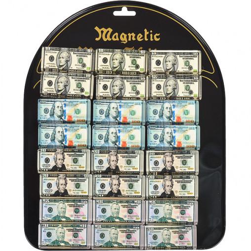 """Магнит """"Доллар"""" прямоугольный 24 шт на планшете 9011"""