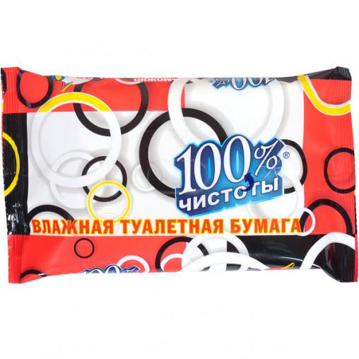 Влажная туалетная бумага 100% чистоты 331710