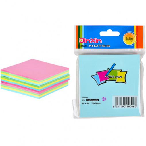 """Бумага для заметок B2-41/C3 """"стик"""" 76*76мм цветной 100 листов"""