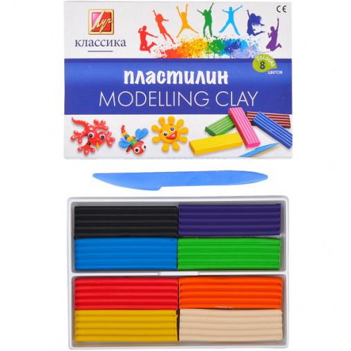 """Пластилин """"Классика"""" 8 цветов, 160 г """"Луч"""" 867-08/38008"""