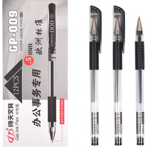 Ручка гелевая GP-009 черная