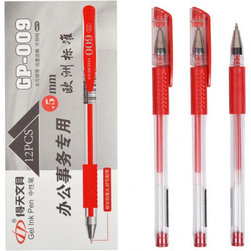 Ручка гелевая GP-009 красная