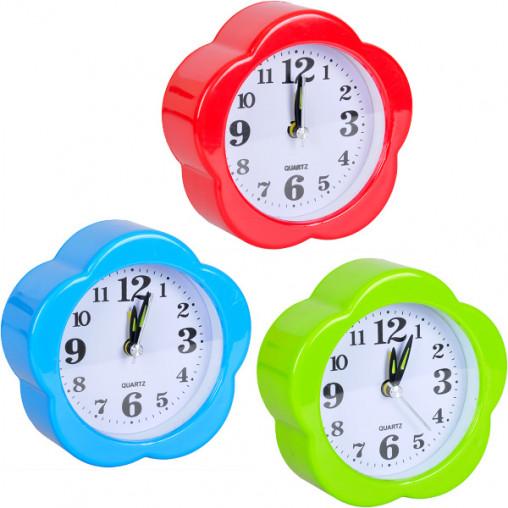 """Настольные часы - будильник """"Ромашка"""" JX807 10*10*4 см"""