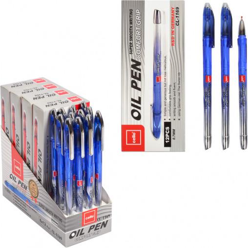 "Ручка масляная ""OIL PEN"" Cello CL-1169 синяя"