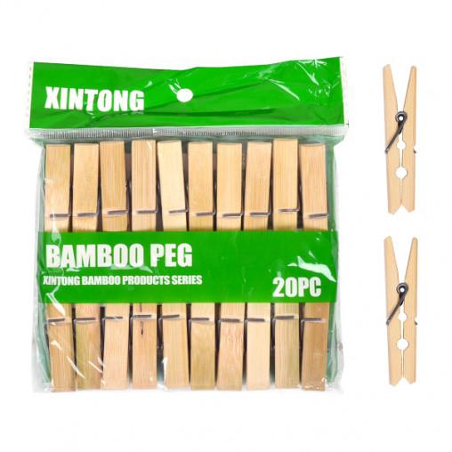 """Прищепки для белья """"Бамбук"""" малые 20шт, 6см X2-241"""