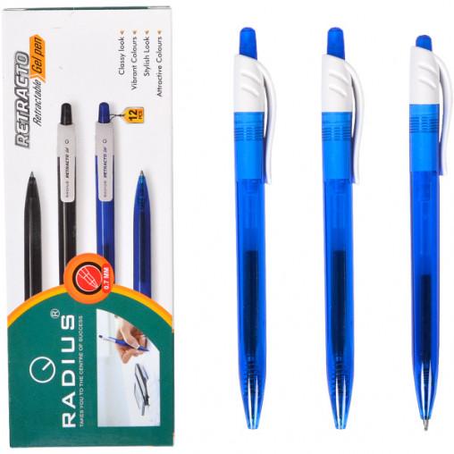 """Ручка гелевая """"R8"""" RADIUS 12 штук, синяя 778002"""