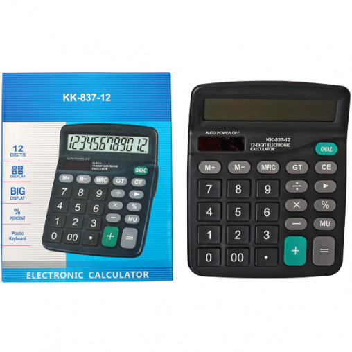 Калькулятор KK837A 15х12х4 см