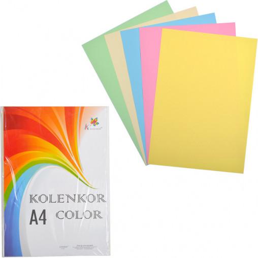 Бумага для ксерокса А4 5 цветов, пастель 250 листов 80г/м²