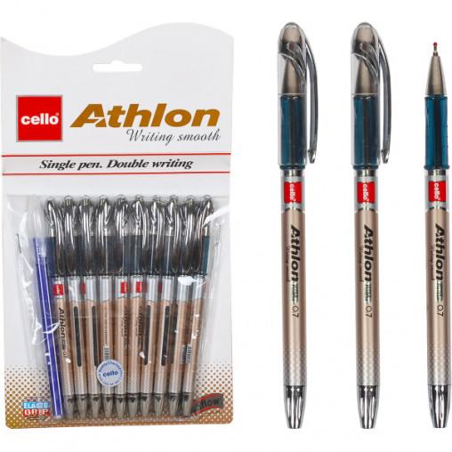 "Ручка масляная ""Athlon"" Cello CL-1166/10+1 синяя"