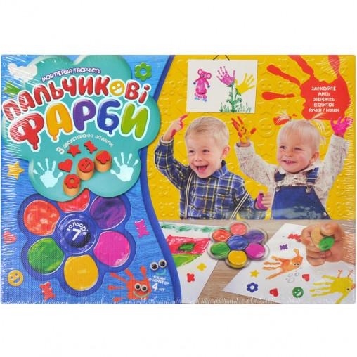 Пальчиковые краски 7 цветов, укр.яз. РК-01-02 ДТ-ОО-09-88