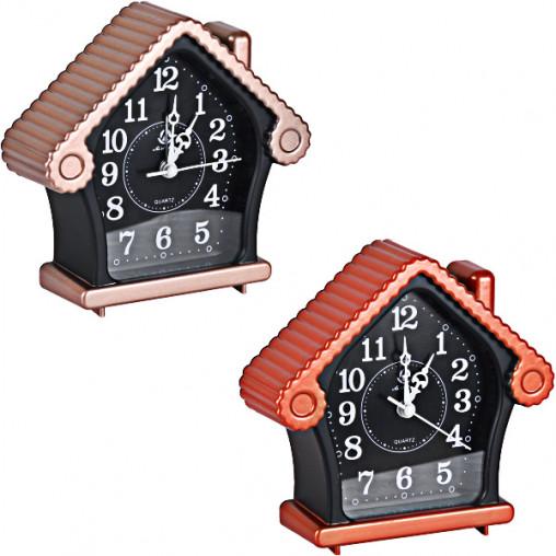"""Настольные часы - будильник AS875/Х2-25 """"Домик"""" 13,5*13*4,5см"""