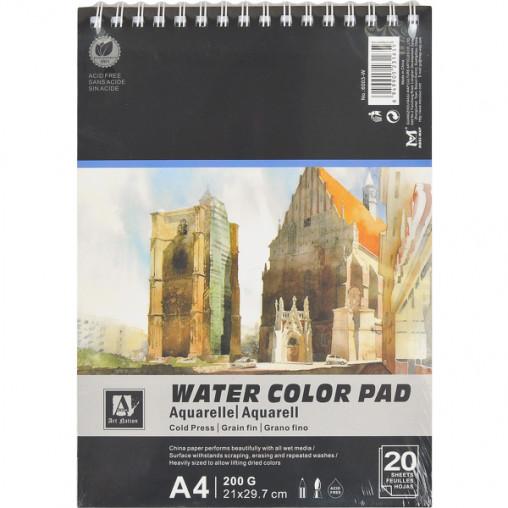 """Альбом для акварели """"Water Color Pad"""" А4 6003-W, 20 листов, 200г/м²"""