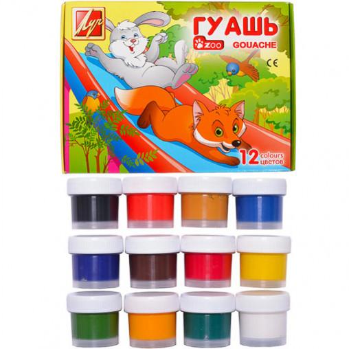 """Гуашь """"Зоо"""" Мини 12 цветов 15 мл """"Луч"""" 1252-08/37966"""