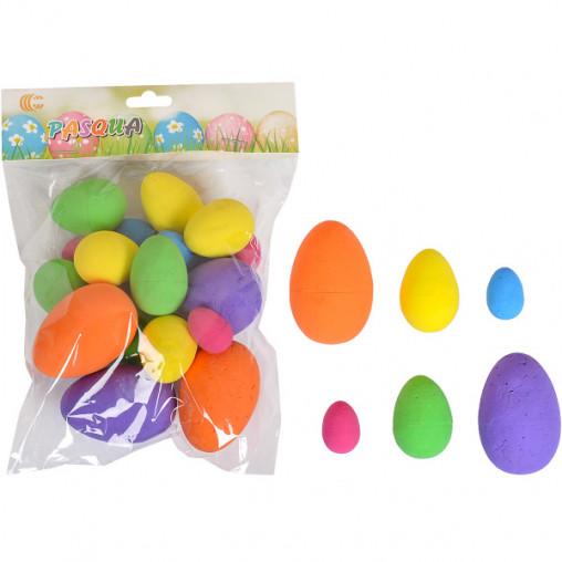 Набор Яйца декоративные цветные 2,5см,4см,6см CX19-043B