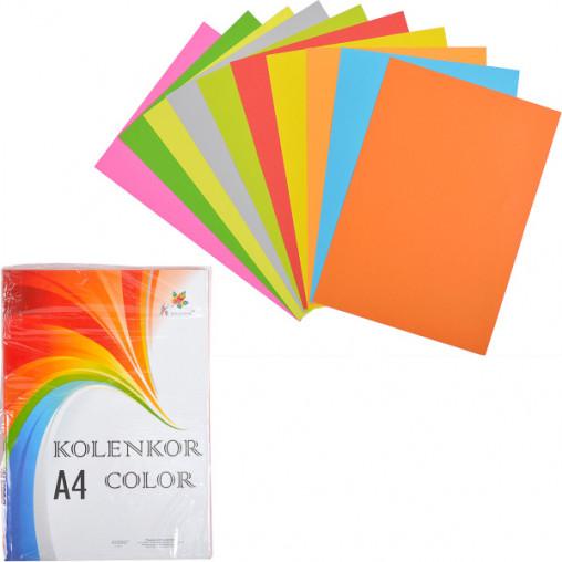 Бумага для ксерокса А4 5+5 цв, НЕОН+насыщенная 250 листов 80г/м²