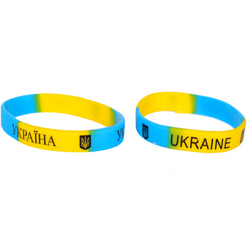"""Браслет """"Украина"""" силиконовый 12-47"""