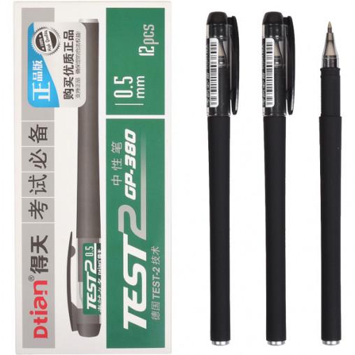 "Ручка гелевая GP-380 ""TEST2"" черная"