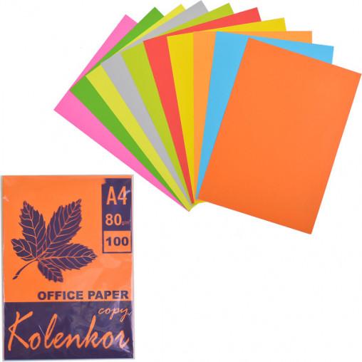 Бумага для ксерокса А4 5+5 цв, НЕОН+насыщенная 100 листов 80г/м²