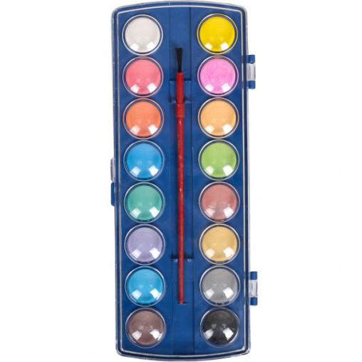 Акварель сухая 16 цветов пластик 22,5*9см 6016